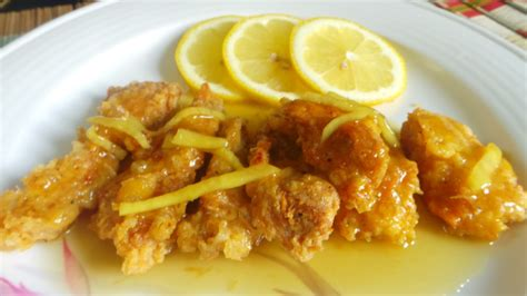 Makanan Ikan Hias Lemon ayam sos lemon madu resepi lazat