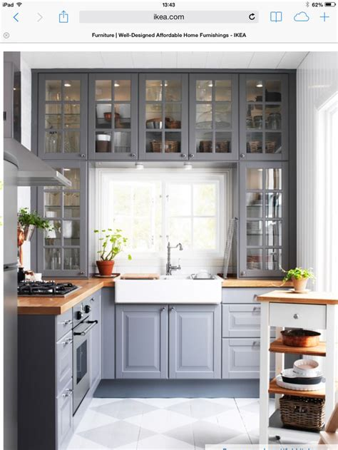 Gray Kitchen Cabinets Ikea Grey Kitchen The Kitchen Kitchens Pinterest Gray Cabinets Gray Kitchens And