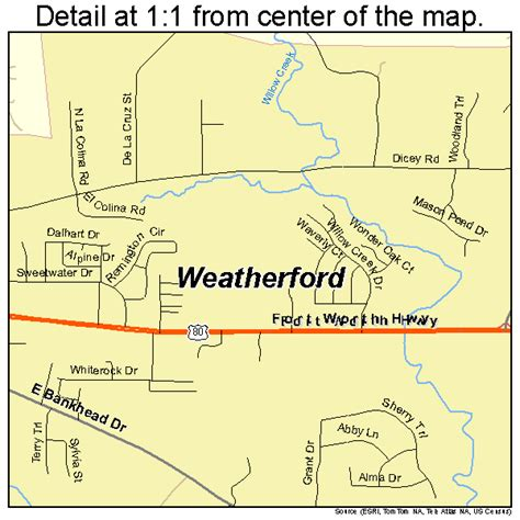 map weatherford texas weatherford texas map 4876864