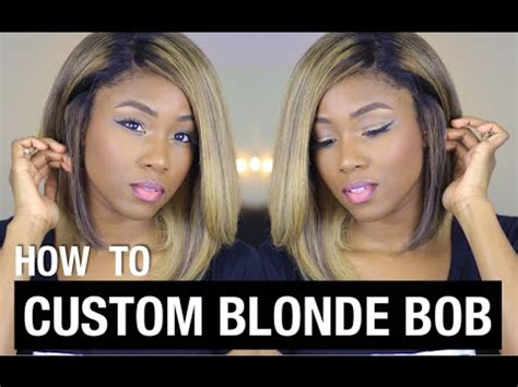 blonde bob youtube blonde beyonce bob how to customize your rpgshow wig
