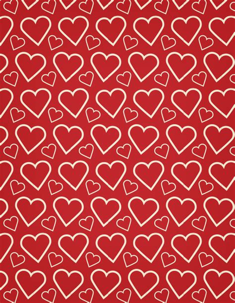 pattern heart vector a heart outline free seamless vector pattern vector patterns