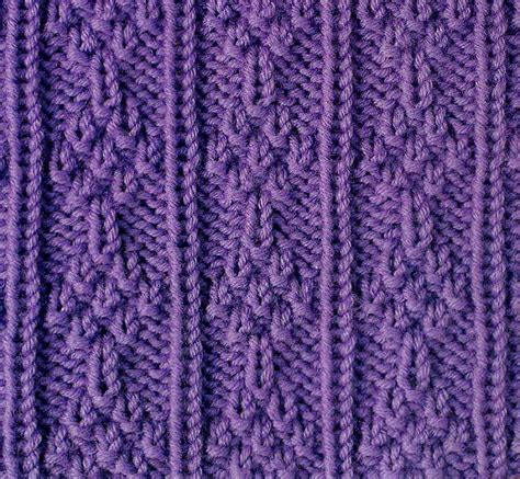 knit stitches knit and purl stacked tress stitch knitting kingdom