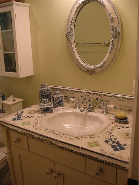 tile bathroom vanity countertop mosaic tile vanity counter top traditional bathroom