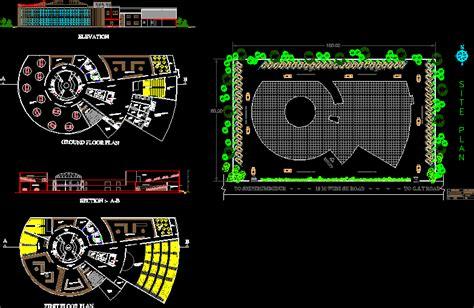 cultural center india dwg plan  autocad designs cad