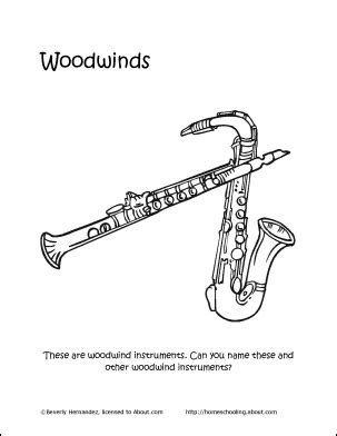 coloring pages woodwind instruments musical instruments word search crossword puzzle and more