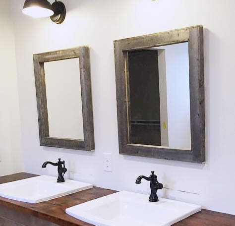 bathroom mirror wood 2 reclaimed wood mirrors size 28 x 34 rustic bathroom mirror