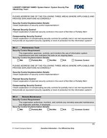 system security plan template it security plan template