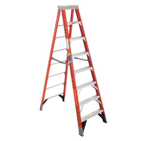 step ladders werner ladders 10 ft fiberglass step ladder