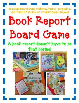Creative Book Reports For 6th Graders by Book Report Board Easy Directions Artistic Creative Challenging
