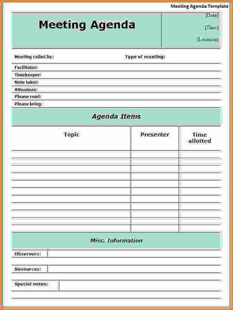 word agenda templates sales report template