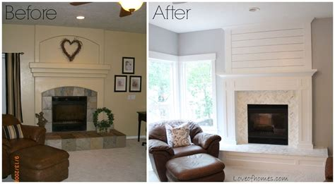 hometalk fireplace makeover before and after