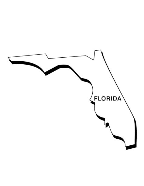 florida coloring page coloring home