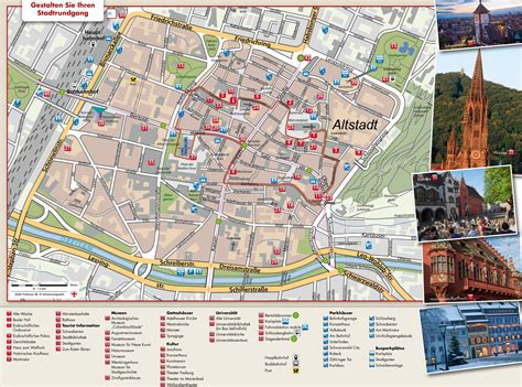germany tourist attractions map freiburg tourist attractions map