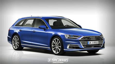 Audi A8 Avant 2018 audi a8 avant rendering is pretty much predictable