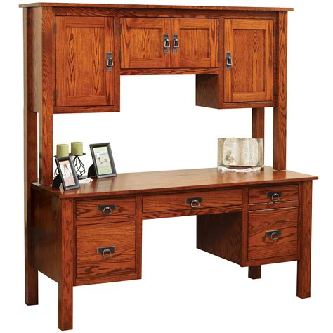 Mission Desk With Hutch by Post Mission Series Post Mission Desk With Hutch Option