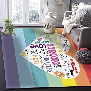 indoor home area rugs xstrong love inspirational