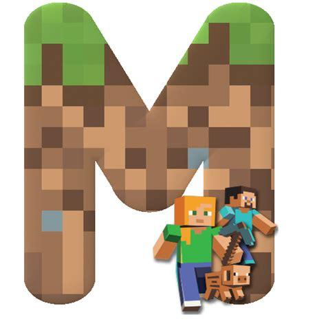 imagenes png minecraft alphabets by m 212 nica michielin minecraft alphabet facebook