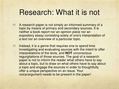 101 research paper research paper 101