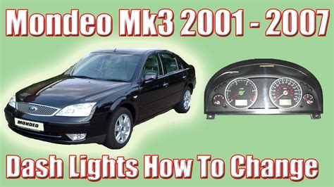 part 1 ford mondeo mk3 how to change the dash lights and removing the clocks youtube