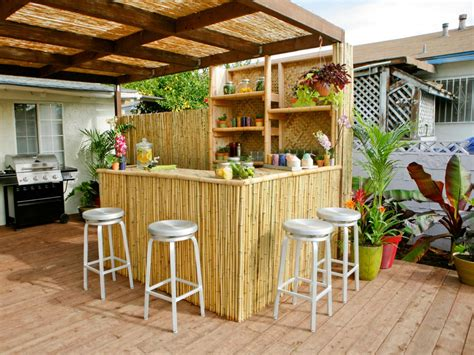 Outdoor Kitchen Bar Ideas Pictures Tips Expert Advice Patio Bar Designs