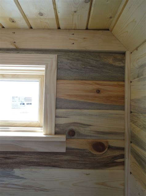 Beehive Tiny House Interior Paneling Flooring And Trim Home Interior Paneling