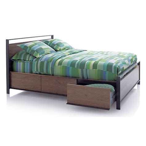 crate and barrel storage bed bowery queen storage bed in beds headboards crate and