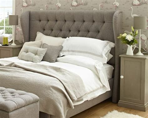 upholstered headboard grey awesome grey upholstered headboard for the bedroom