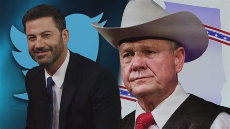 roy moore jimmy kimmel twitter jimmy kimmel senate candidate roy moore feud on twitter