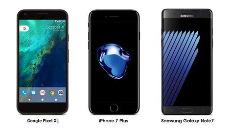 pixel xl iphone 7 plus ve samsung galaxy note7 karşılaştırması log