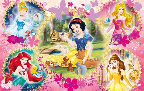 Last Pieces Princess 2 puzzles disney princess clementoni 07133 60 pieces