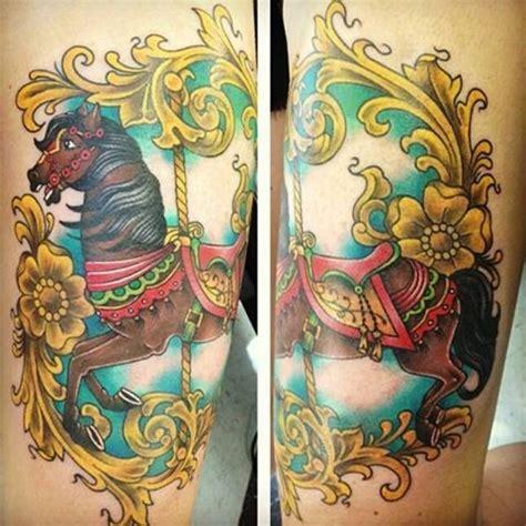 carousel horse tattoo carousel ink carousel horses