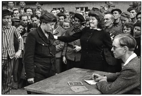 henri cartier bresson interviews and 1597113921 gestapo informer recognized by a women she had denounced deportation c dessau germany