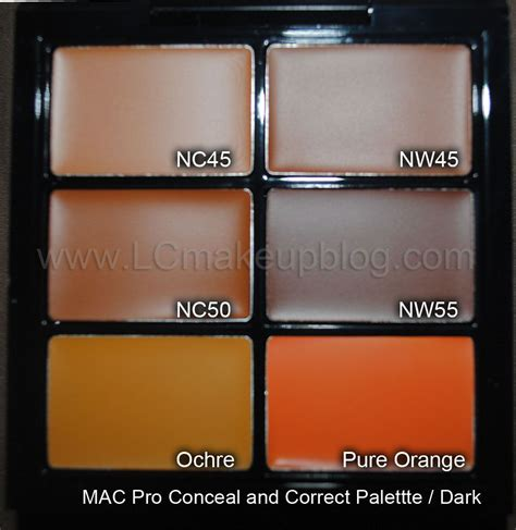 lc makeup artist mac pro concealer palette swatches in