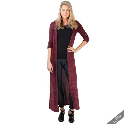 Top Brixtonbest Fashion49 womens soft knit hooded cardigan sweater shrug tunic top duster coat winter ebay