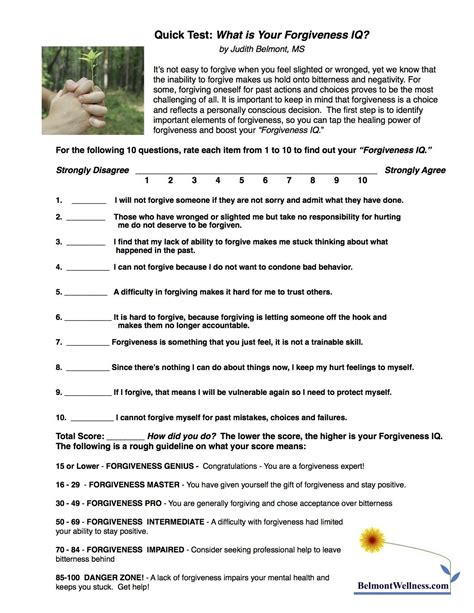 printable health quiz forgiveness self test take this quick quiz to find out