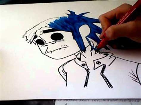desenho 2d speed drawing d 2d of gorillaz