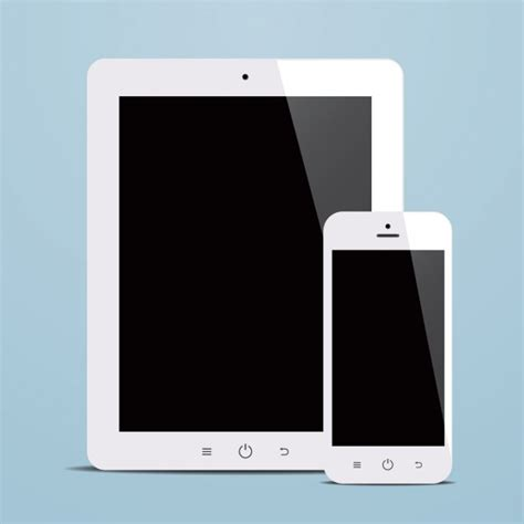 mobile phones and tablets tablet and mobile phone design vector free