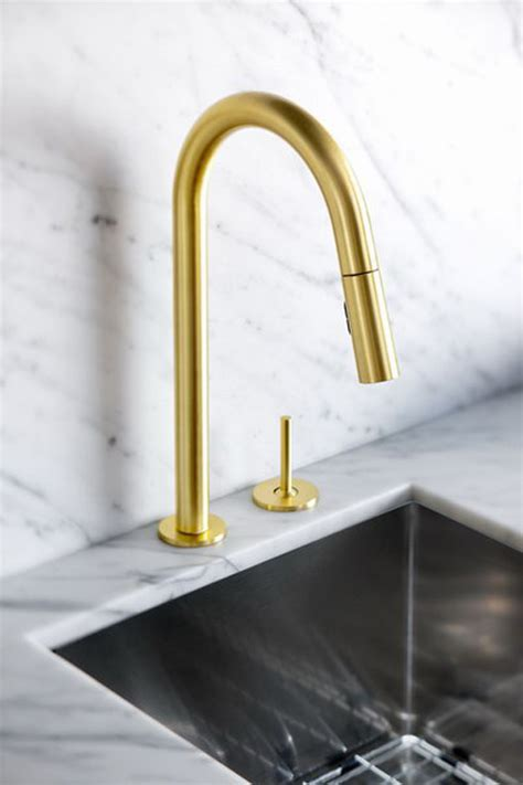 gold kitchen faucets gold is chic and modern brass fixtures to upgrate your kitchen freshome