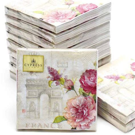 Decoupage Wholesale - cocktail napkins 20pcs 25 25cm 3 ply pink wedding paper