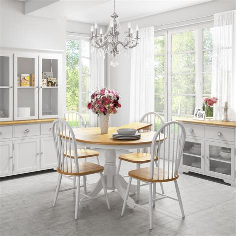 extendable  wooden dining table  whitenatural