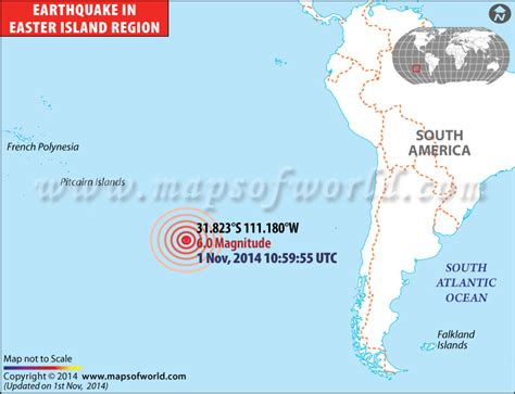earthquakes  easter island area affected  earthquake