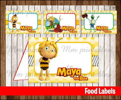 Gift Card Instant - 80 off sale maya the bee food tent cards instant download printable