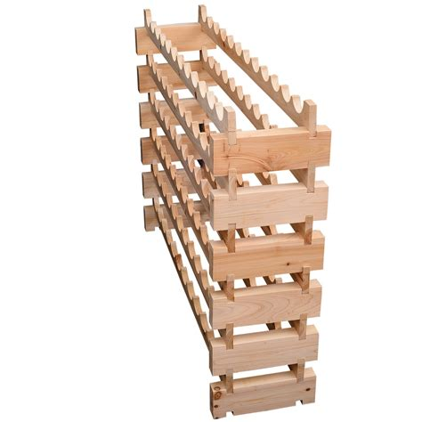 homcom wood wine rack 72 bottles holder 6 tier shelves