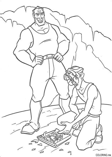 coloring book lost coloring page atlantis the lost tales milo thatch and