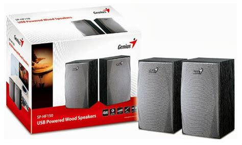 Speaker Aktif Mini Genius Hf 150 inspan infotech launches sp hf150 wood desktop speakers gizbot