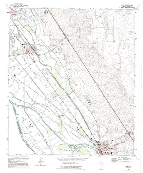 clint texas map clint topographic map tx usgs topo 31106e2