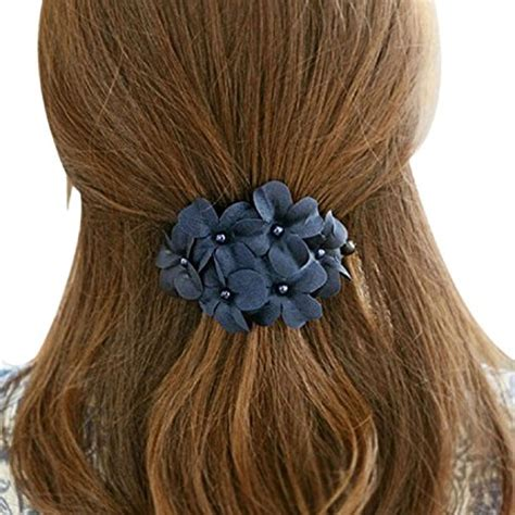 Sale Hair Pin Kepala Polos coromose handmade flower banana barrette hair clip hair pin claw blue apparel