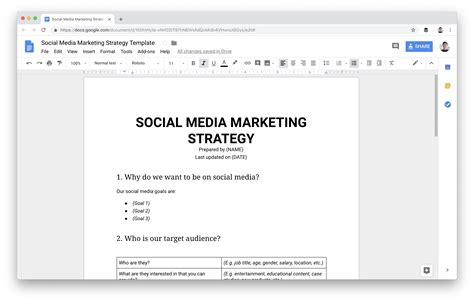 Social Media Marketing Strategy The Complete Guide For Marketers Social Media Marketing Strategy Template