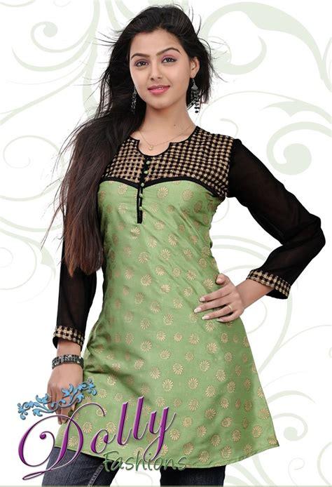 light green black baltic printed patch work cotton kurti indian tunic top cotton kurti