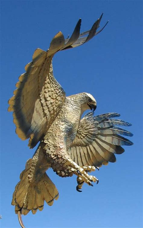the hawks hawk fabricated aluminum barbed wire and steel metal